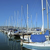 Sail boats in a marina in Sau Solito, California, USA