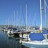 Sail boats in a marina in Sau Solito, California, USA