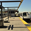 Trains in the BART station in San Francisco bay area
