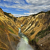 Yellowstone river canyon in Yellowstone national park