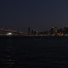 Oakland Bay Bridge in San Francisco at night