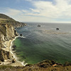 Beaches at the Big Sur in southern California
