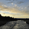 Fire hole river in Yellowstone national park