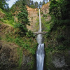Multnomah falls in the Columbia river gorge, Oregon, USA