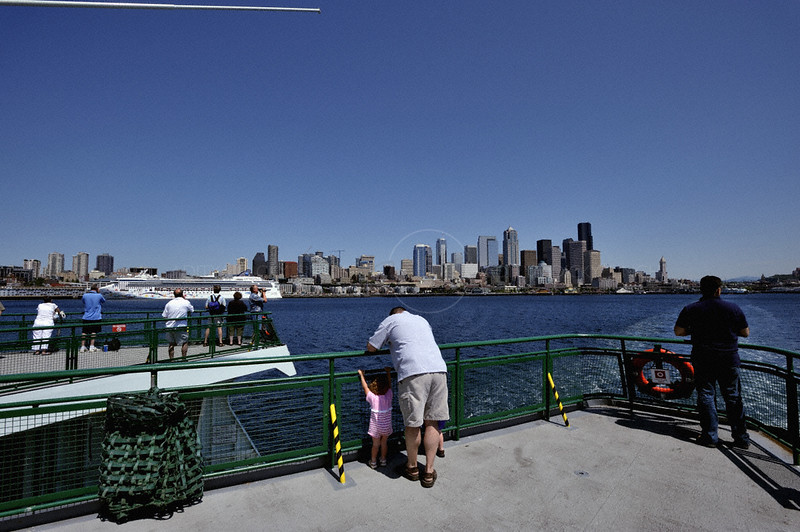 Downtown Seattle from a ferry
