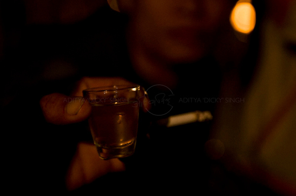 Rice wine shots in Sapa - north west Vietnam