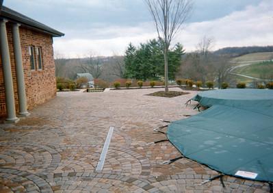 Appian fan pattern pool deck