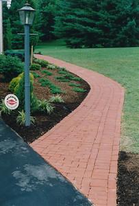 Simple brick walkway