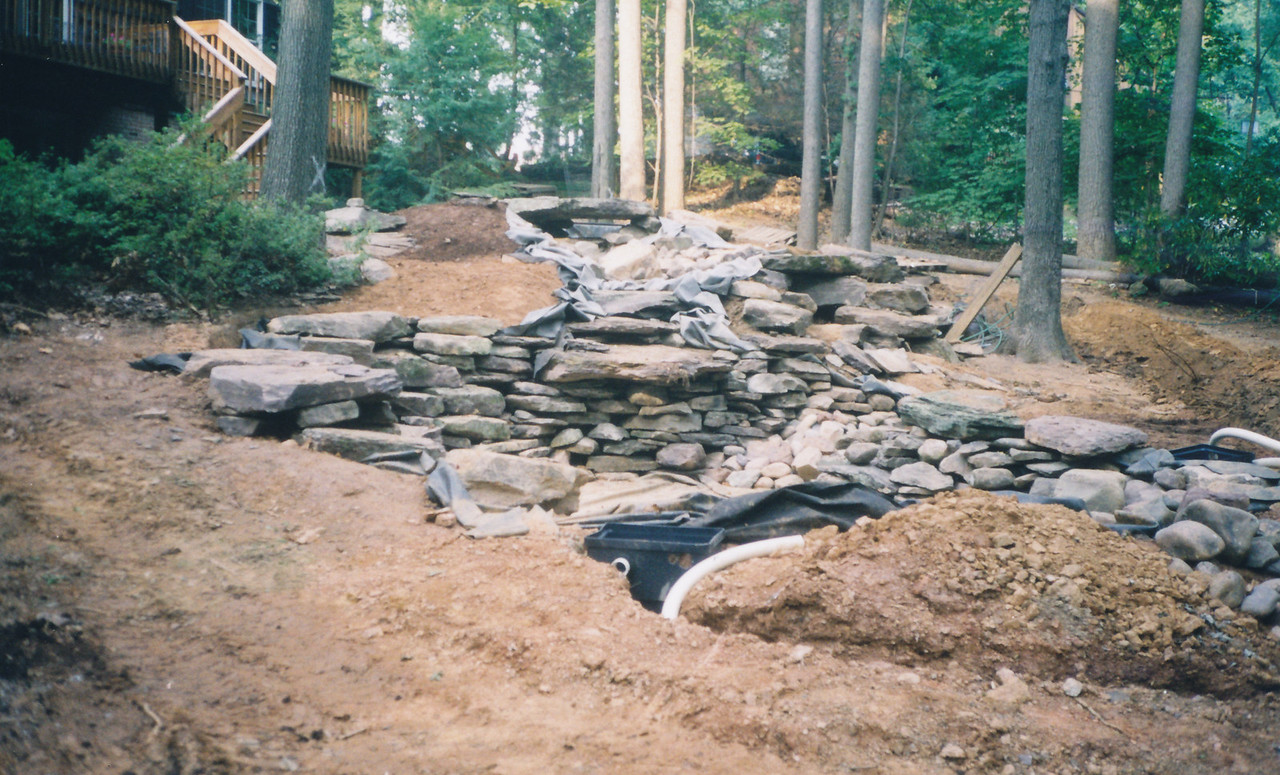 Sharbaugh, during pond construction