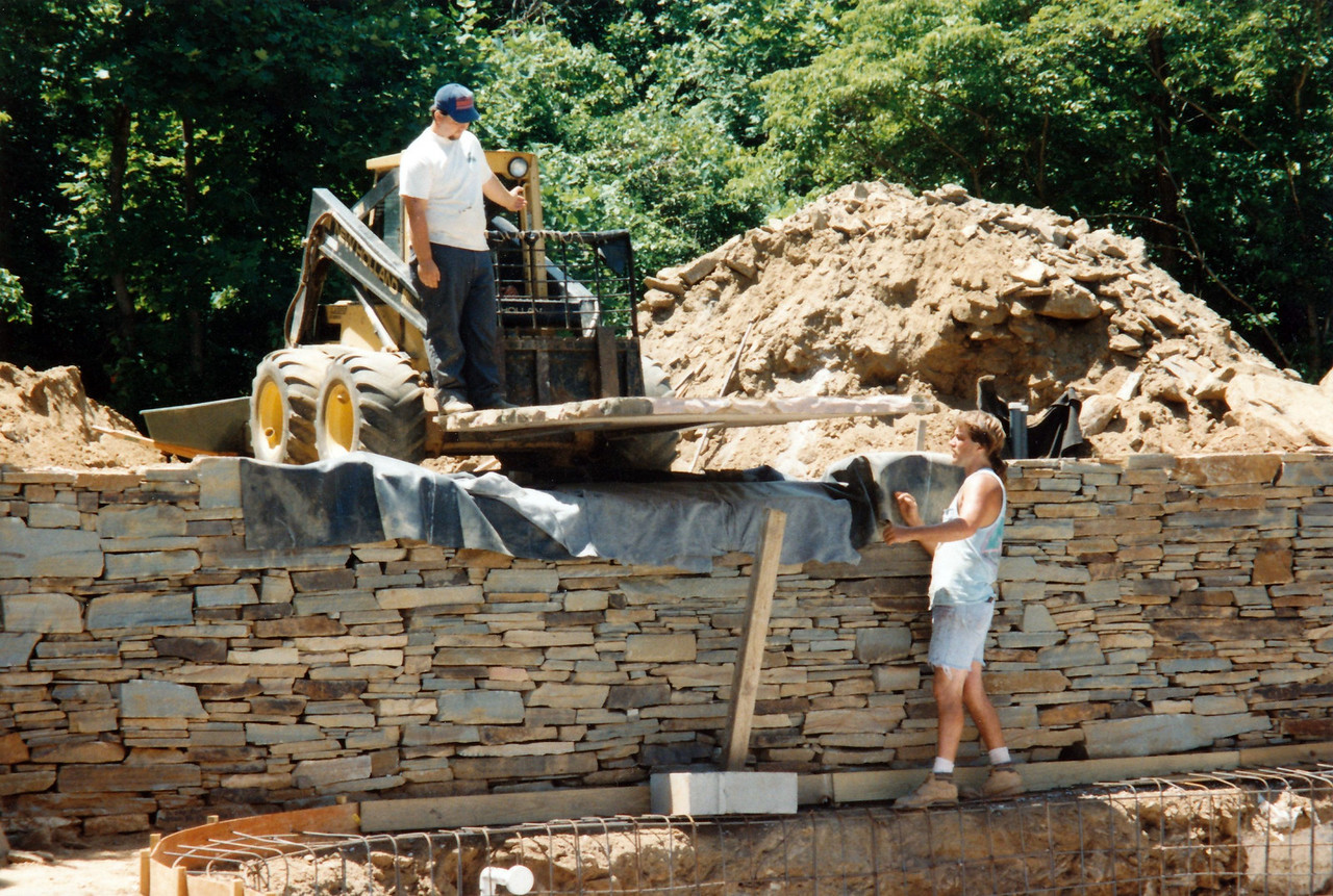 Koutrakis 1994, during construction of waterfalls