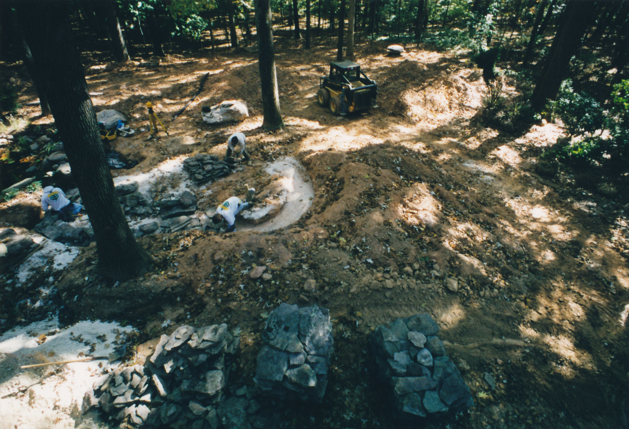 Sharbaugh, grading for pond and waterfalls