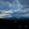 Teton mountain range in the Grand Teton national park, Wyoming, USA