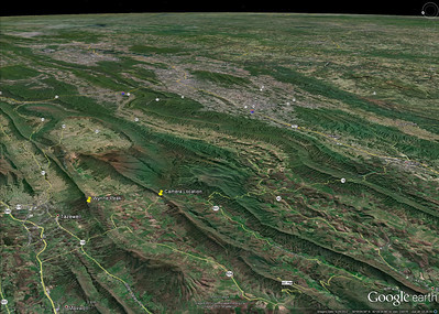 Tazewell-Marion VA16  Google Earth image of the area between Tazewell and Marion Virginia.