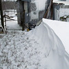 Drift Over 3 Feet deep.<br /> The snow has stopped but the wind is picking up what snow that it can and blowing it all into drifts