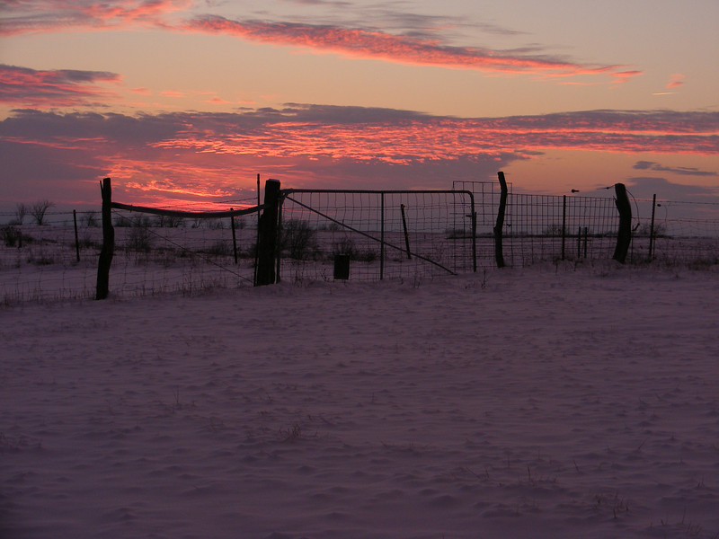 A Winter Sunset at the Sentinels.