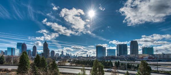 City of Atlanta Skyline and Connector