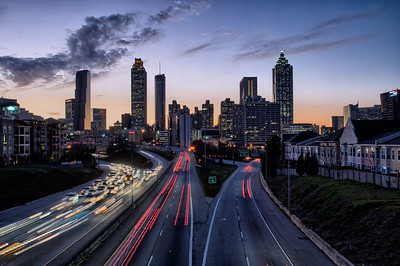 Downtown Atlanta Skyline from the Jackson Street Bridge