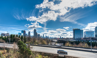 City of Atlanta Skyline and Downtown Connector