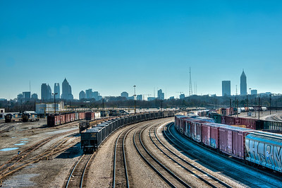 Atlanta Train Depot Atlanta Skyline