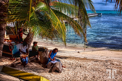 Caribbean beach on Ambergris Caye, Belize