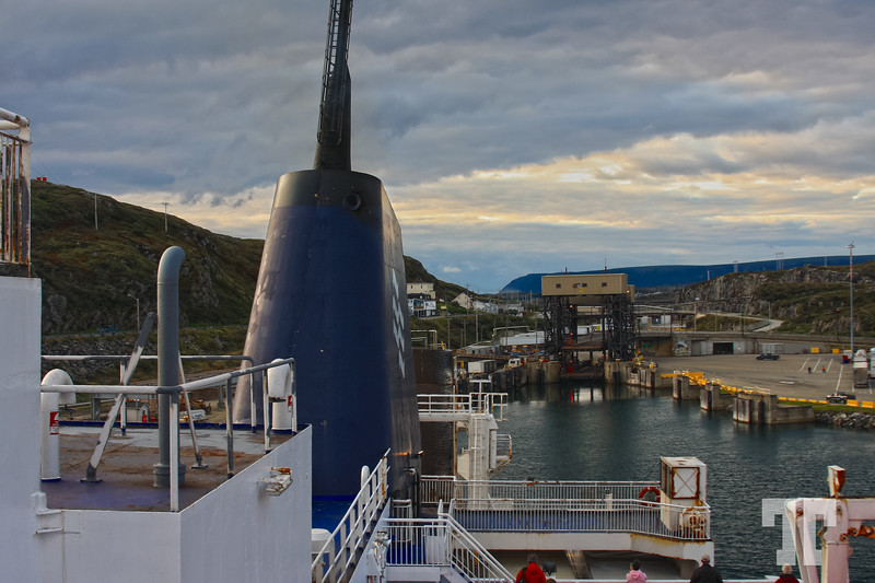 Entering Port au Basques, Newfoundland