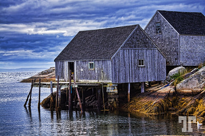 Fisherman's shacks, Nova Scotia