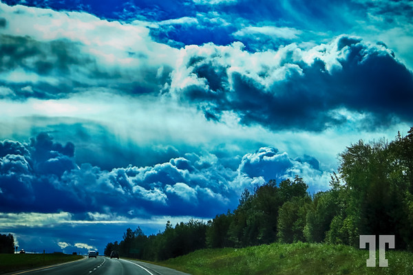 """Driving under a stormy sky  * Are we more that just miniatures on this """"our"""" planet?"""