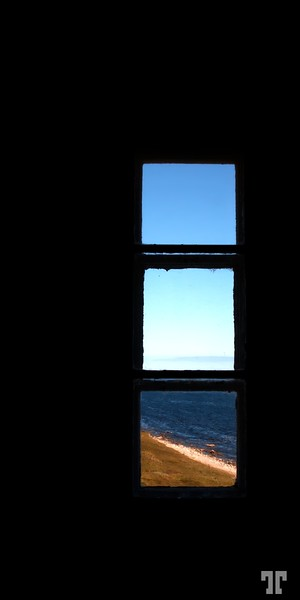 The Point Amour Lighthouse, Labrador, Canada<br /> - view from the lighthouse window