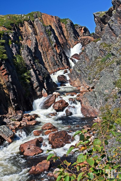 Sept. 13, 2010<br /> <br /> Waterfal on Brador river.<br /> - Best viewed on a larger format for details.<br /> <br /> * It was a wonderful sunny day yesterday here in Labrador, <br /> and today it looks to be the same, even though it froze overnight<br /> (at 7 o'clock this morning the temperature was 34° F)