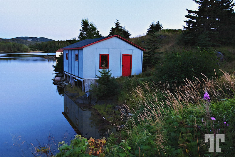 Dusk by the lake in Newfoundland