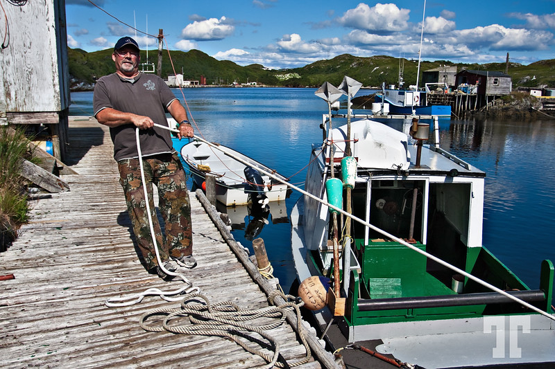 "Aug 27, 2010<br /> <br /> Rose Blanche Newfoundland fisherman - Rose Blanche, a small village in the ""Port au Basques"" area<br /> <br /> Best viewed in a larger format. Newfoundland, Canada, Atlantic Canada, maritimes"