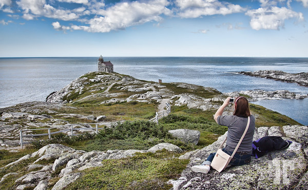 The tourist photographer - Lighthouse of Rose Blanche Newfoundland