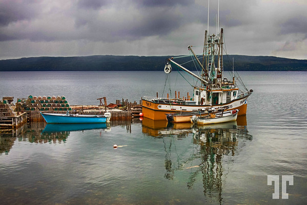 Fishing boats in Salvage village, Newfoundland