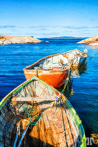 Peggy's-boats-painting