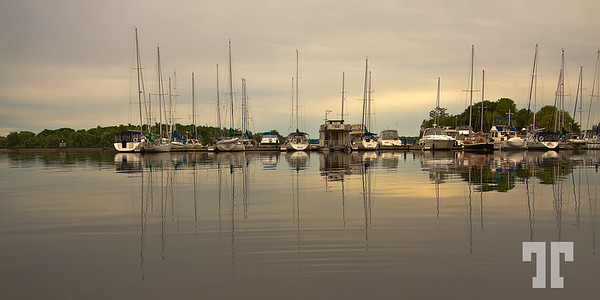 Marina in Gananoque on St Lawrence River, Ontario