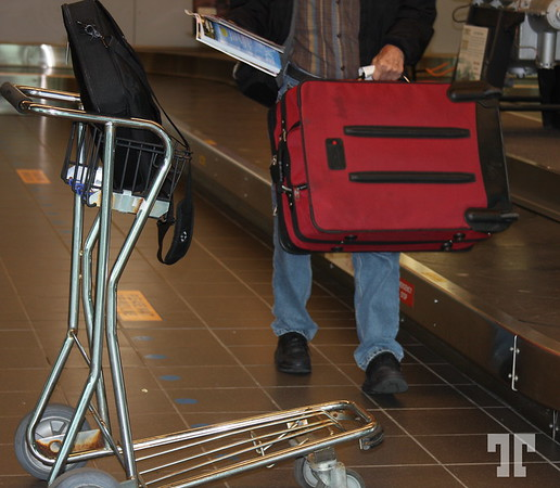 Taking luggage at the airport