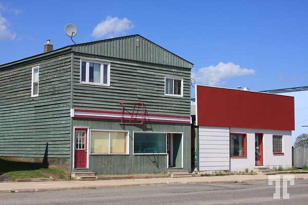Street and houses in Atikokan, Ontario