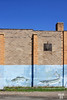 Pained wall on a building in Atikokan, Ontario