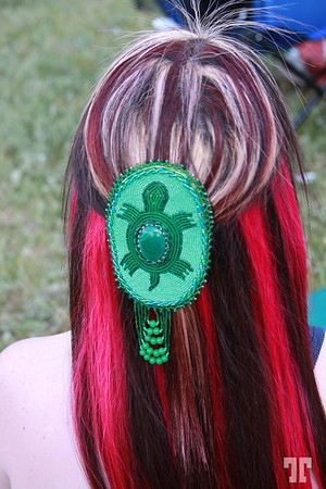 Hair ornament of and aboriginal Canadian lady  (XX)
