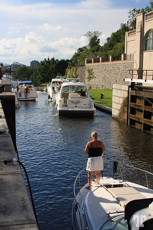 Locks on Rideau Canal, Ottawa, Canada