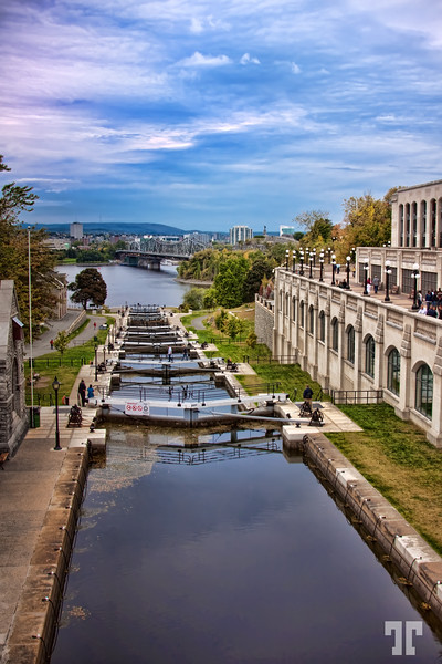 "October 10, 09<br /> <br /> Ottawa Canada locks on Rideau canal<br /> <br /> * On the right side you see the Fairmont-Chateau Laurier hotel's wall (my previous photo):<br /> <br />  <a href=""http://allbiz.smugmug.com/Photography/Photo-of-the-day/6464803_UmdP9#663610769_6tdkg"">http://allbiz.smugmug.com/Photography/Photo-of-the-day/6464803_UmdP9#663610769_6tdkg</a> Ottawa"