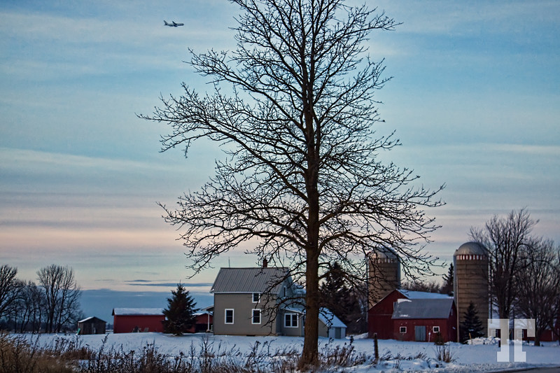 December 24, 09<br /> <br /> Winter rural scape in Ontario - the airport must be close by...<br /> <br /> Thank you so much for all the comments on my yesterday photo<br /> I didn't expect my cookies to have such a popularity... :) Ottawa Canada