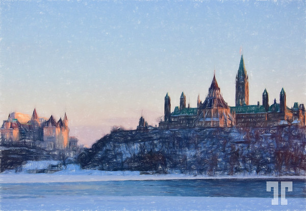 ottawa-river-parliament-hill-winter-colored-pencil