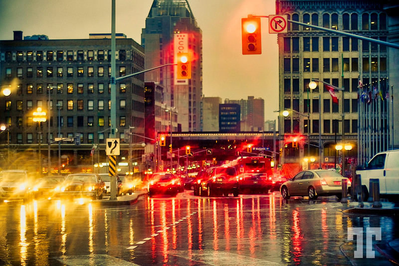 Rainy evening in Ottawa Canada (Rideau street)<br /> (aa)