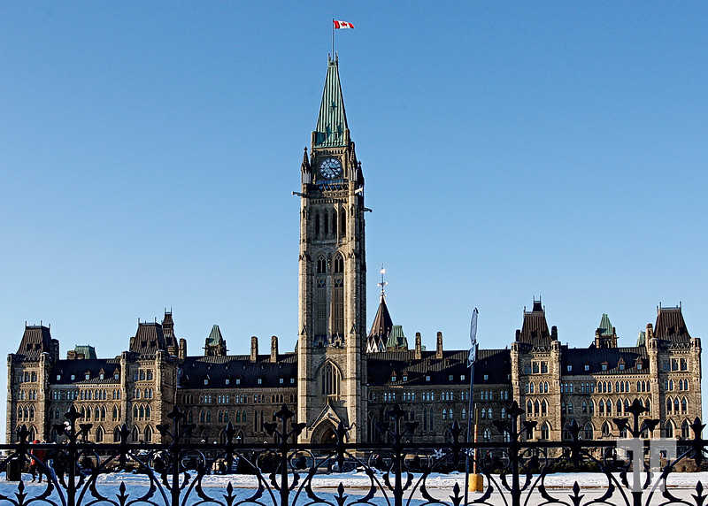 2nd Jan. 2009<br /> <br /> Canadian Parliament Building Ottawa Canada  - January  (ZZ)