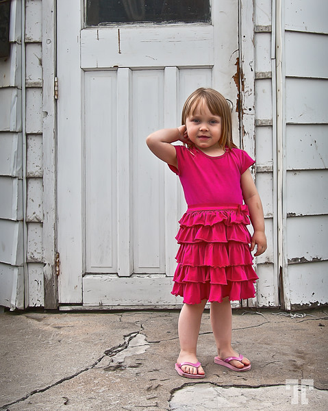 May 30, 2011<br /> <br /> Contrast<br /> <br /> - She's a French Canadian girl I found in an old neighborhood of Ottawa, while looking<br /> for interesting textures to photograph. She's 4 and likes to pose in front of the camera :)<br /> <br /> * Best viewed in a large format for details.