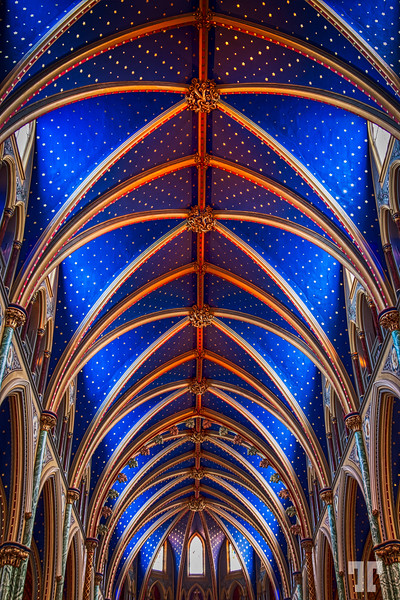 Ceiling at St.Mary's Cathedral in Ottawa, Canada