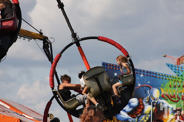 Amusement park ride in La Baie Park, Gatineau, Quebec, Canada, on Labor Day weekend 2008
