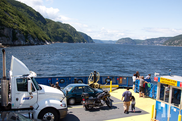 Crossing St. Laurent River in Quebec