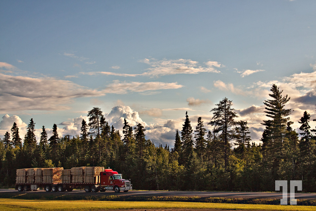 July 27, 2010  Logging truck in New Brunswick, Canada  - best viewed in a larger format (just click on the photo to enlarge) Road